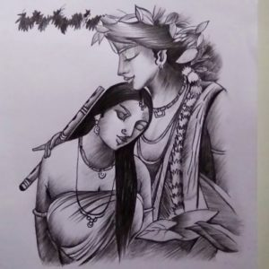 Outstanding Creative Pencil Sketches Free Lord Creative Krishna & Radha Drawing For Beginners || Pencil Sketch Image