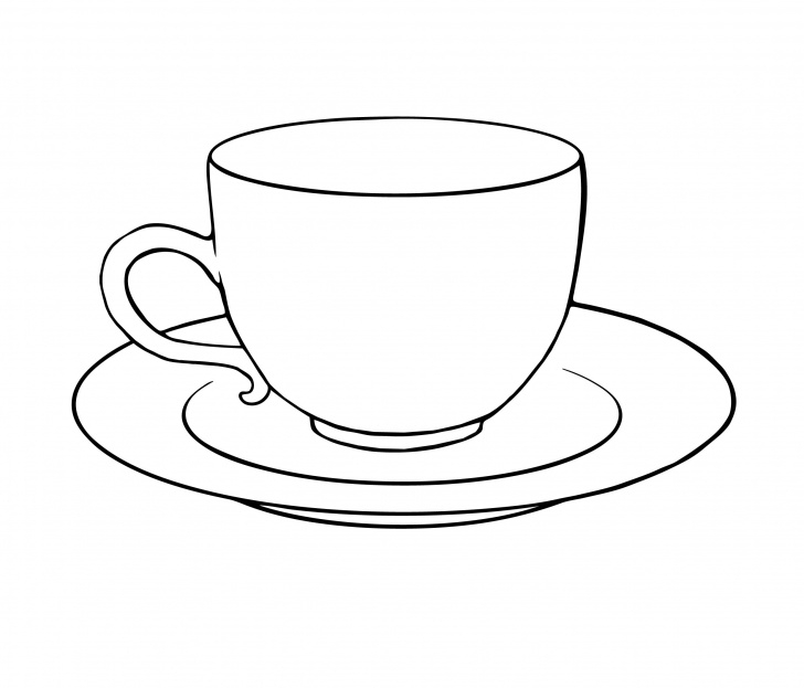Outstanding Cup And Saucer Pencil Drawing Courses Tea Cup And Saucer Drawing Sketch Coloring Page | Crafty Stuff | Tea Photos