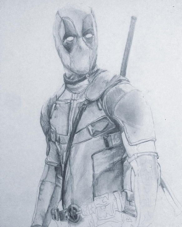 Outstanding Deadpool Drawing In Pencil Tutorial Finishing Up Deadpool Drawing #draw #drawing #graphite Images