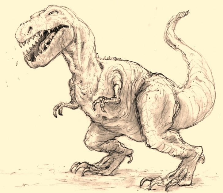 Dinosaur Pencil Sketch