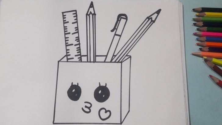 Drawing Of Pencil Box