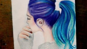 Outstanding Easy Colour Pencil Drawing Easy Drawing Hair Tutorial Easy With Colored Pencil Picture