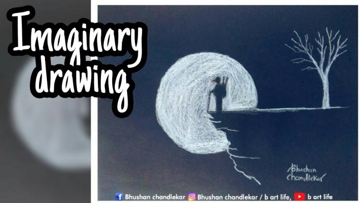 Outstanding Easy Drawing On Black Paper With White Pencil Techniques for Beginners Imaginary Drawing|White Pencil On Black Paper|Drawing  Tutorial|Bhushanchandlekar Images