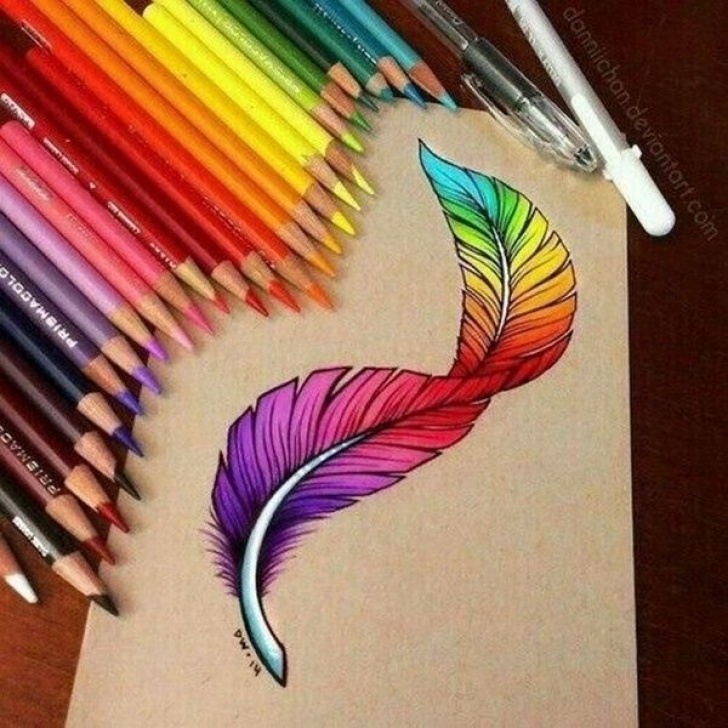 Outstanding Easy Pencil Colour Drawing Tutorial 40 Creative And Simple Color Pencil Drawings Ideas | Art | Drawings Images