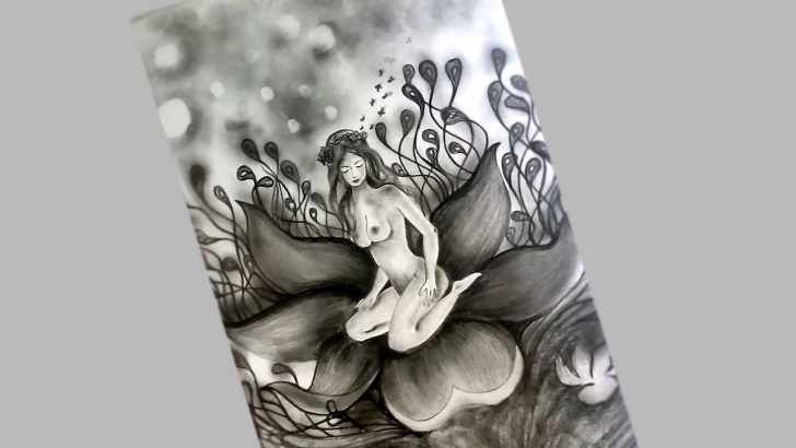 Outstanding Easy Pencil Shading Drawings Of Flowers Ideas Pencil Sketch Drawing - Flower Lady / Easy Pencil Shading Image