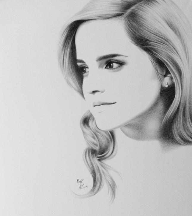 Outstanding Emma Watson Pencil Sketch Tutorials Emma Watson Pencil Sketch And Emma Watson Pencil Sketch Emma Watson Pics