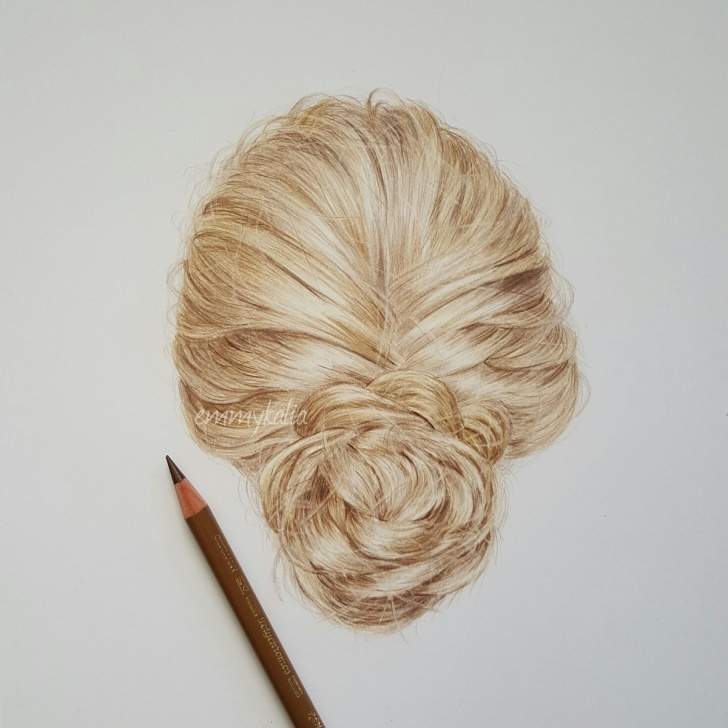 """Outstanding Emmy Kalia Art Techniques for Beginners Emmy Kalia On Twitter: """"hair Drawing! Used Only Fabercastell Photo"""