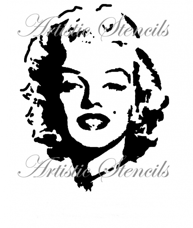 Outstanding Face Stencil Art Ideas Stencil Marilyn Full Face 8 X 10 Photo