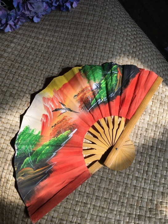 Outstanding Fan Bird Carving Patterns Techniques Decorative Hand Painted Fan - Bird Design - Wall Decor - Home Decor - Image