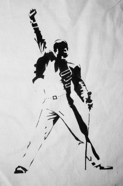 Outstanding Freddie Mercury Stencil Art Step by Step Pin By Frommywindow On Freddie Mercury/queen In 2019 | Freddie Picture