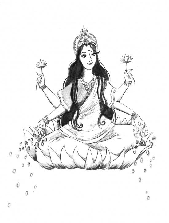 Outstanding Goddess Lakshmi Pencil Sketches for Beginners Lakshmi | Lakshmi Love | Goddess Lakshmi, Sketches, Abundance Pic
