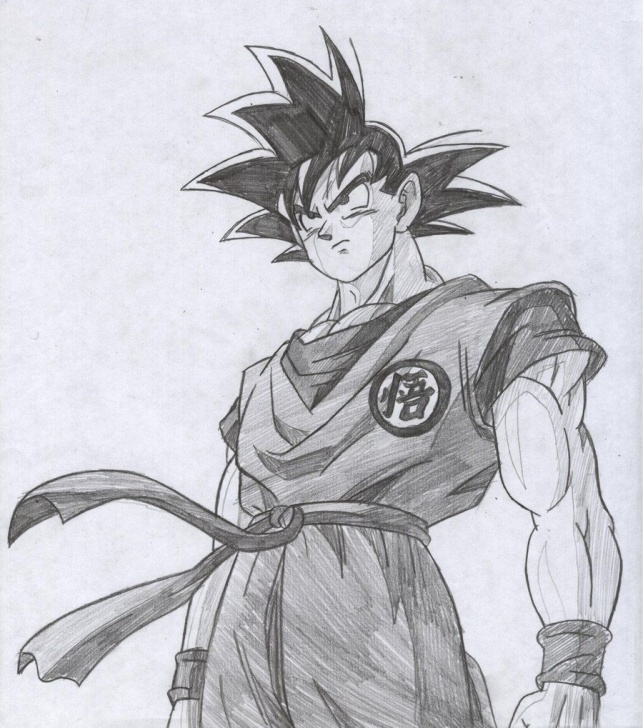 Outstanding Goku Pencil Sketch Courses Goku Drawings Pencil Pic 23 | Drawing And Coloring For Kids Pic