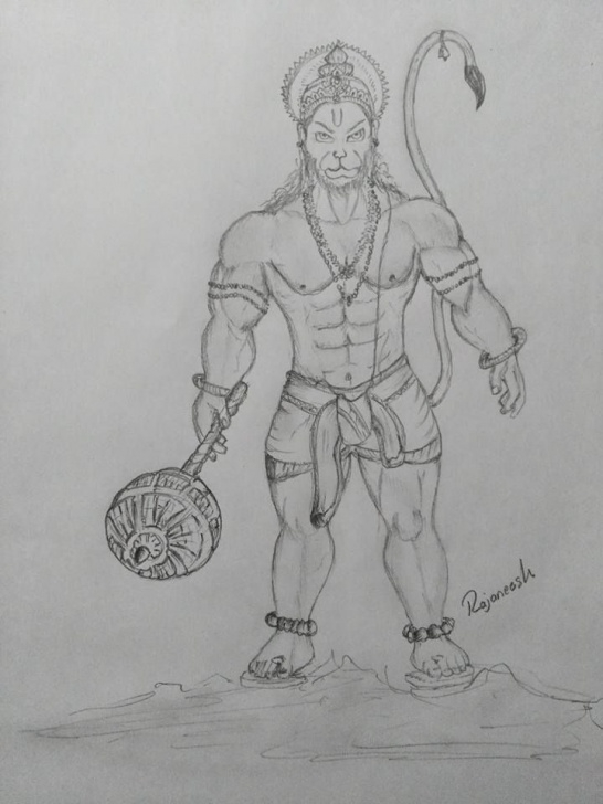 Hanuman Pencil Art