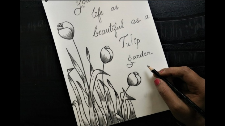 Outstanding Happy Birthday Pencil Sketch Courses How To Make Greeting Card With Pencil Sketch |Version 3 Tulips Images