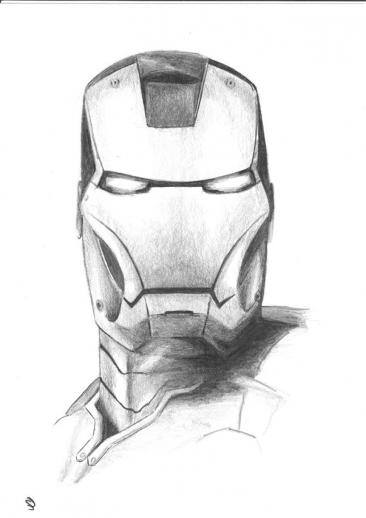 Outstanding Iron Man Pencil Art for Beginners Iron Man Drawing In Pencil At Paintingvalley | Explore Image