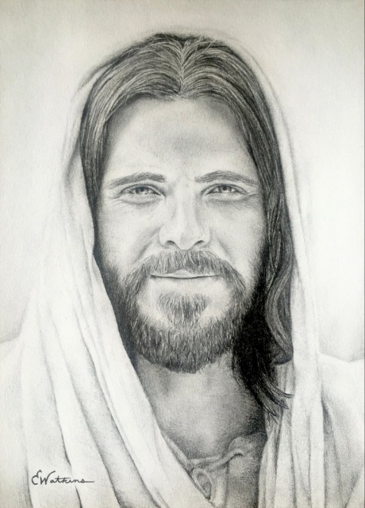 Outstanding Jesus Christ Pencil Drawing Simple Jesus Christ Pencil Drawing Print Images