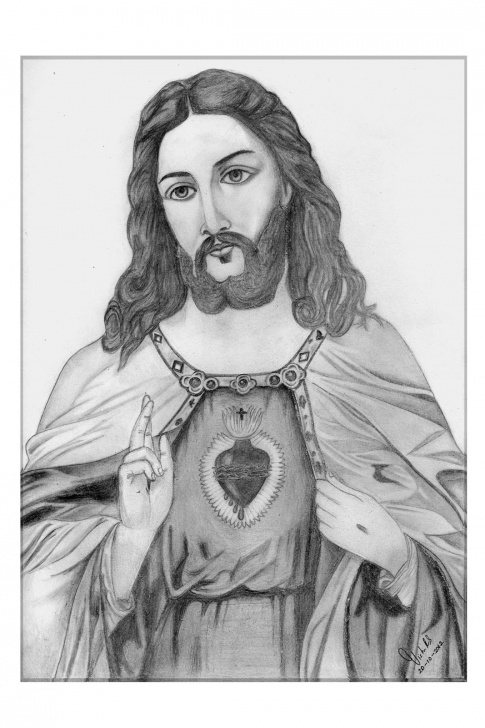 Outstanding Jesus Christ Pencil Drawing Techniques Jesus Paintings Search Result At Paintingvalley Picture