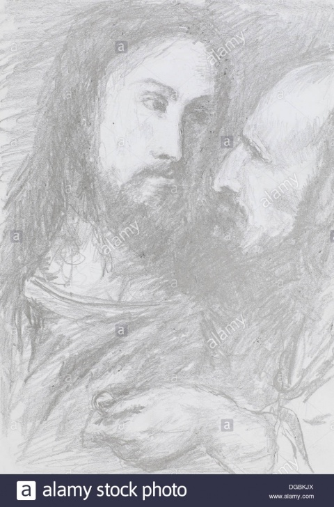 Outstanding Jesus Pencil Art Ideas Pencil Art Of Jesus Stock Photos & Pencil Art Of Jesus Stock Images Image