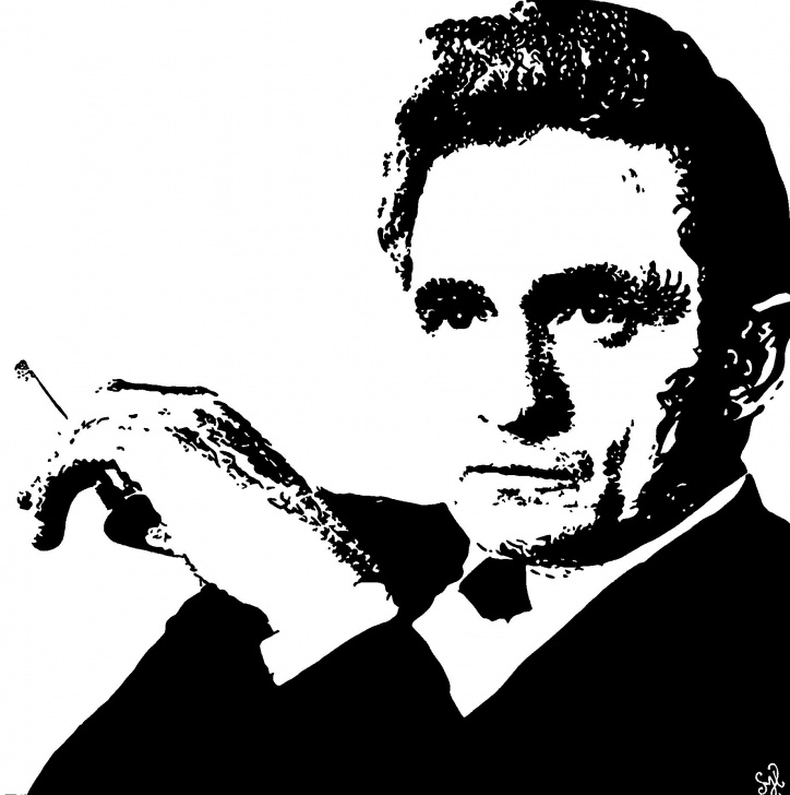 "Outstanding Johnny Cash Stencil Art Tutorials Johnny Cash"" #painting By Shon Hudspeth Www.shonsart #johnnycash Photos"