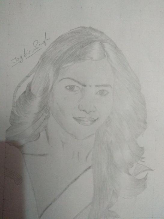 Outstanding Kajal Agarwal Sketch Simple Kajal Agarwal | My Sketchbook | Sketches, Drawings, Art Images