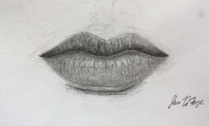 Outstanding Lips Pencil Drawing Free Lips Pencil Sketch At Paintingvalley | Explore Collection Of Pictures