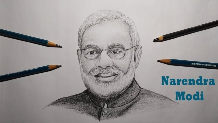 Outstanding Modi Pencil Sketch Tutorial How To Draw Narendra Modi (Realistic Sketch) Photos