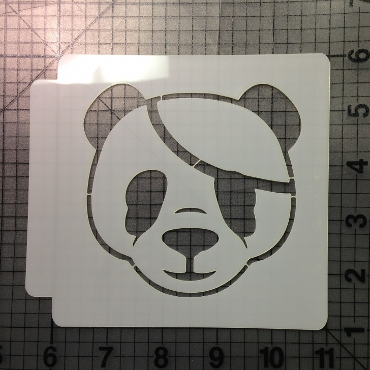 Outstanding Panda Stencil Art Courses Panda Stencil 100 Photo