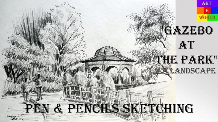 Outstanding Park Pencil Drawing Courses Pen & Pencil Sketching | Landscape | Tutorial Lessons Video | Techniques |  Art | Arteworld Photo