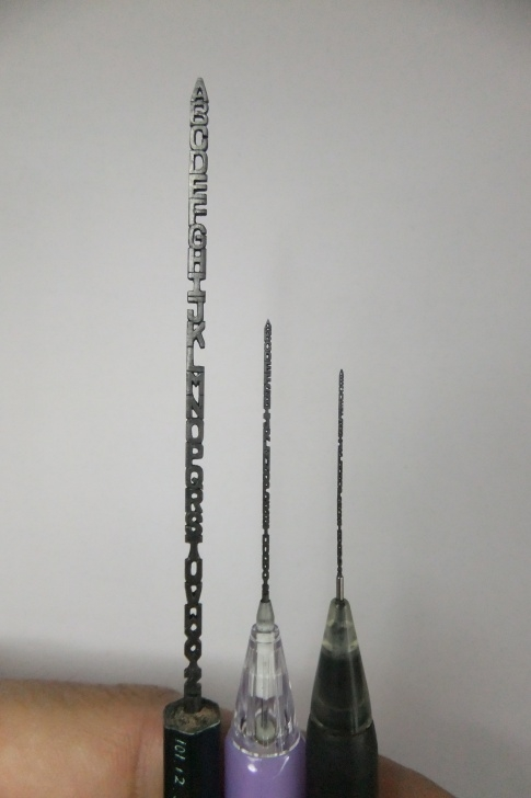 Outstanding Pencil Carving Artist Lessons Pencil Carving Art - Art People Gallery Image