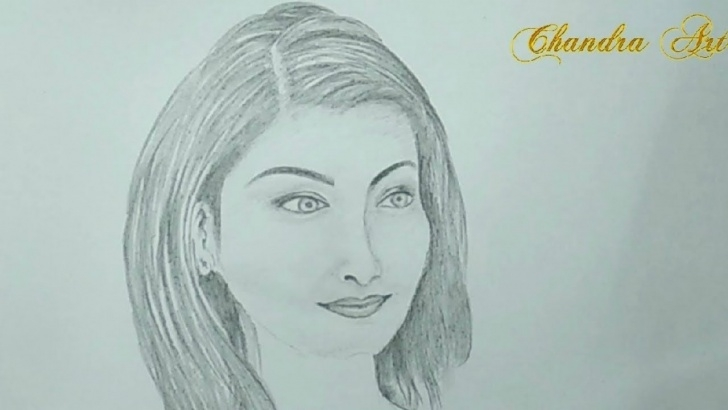Outstanding Pencil Drawing Girl Face Simple Pencil Drawing - How To Draw A Beautiful Girl Face Step By Step Photo
