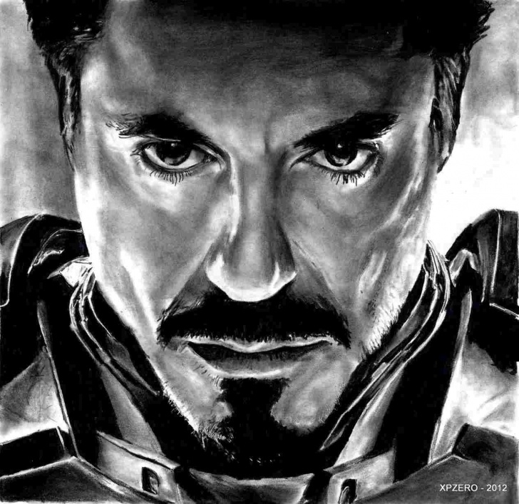 Outstanding Pencil Drawing Man Simple Iron Man Pencil Sketch Pictures