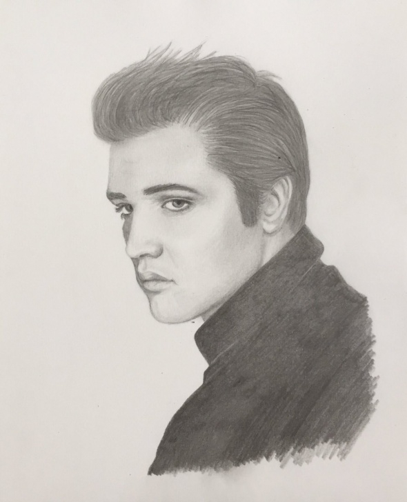 "Outstanding Pencil Drawing Of Elvis Presley Techniques Lauren Hyndman On Twitter: ""my Pencil Drawing Of A Young Elvis Photo"