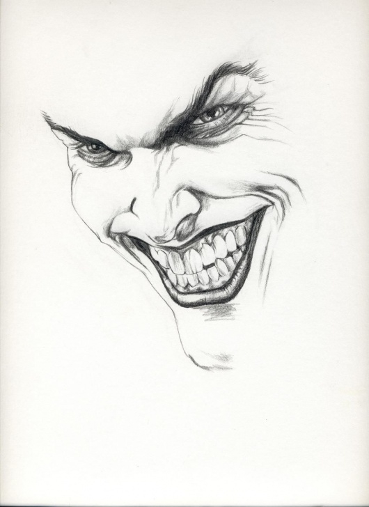 Pencil Drawing Of Joker