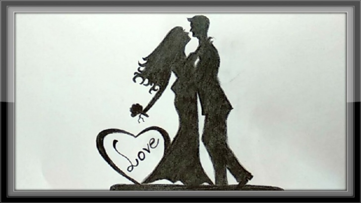 Outstanding Pencil Drawings Of Love Techniques Pencil Drawings - Love Drawings A Romantic Couple For Valentine Pic