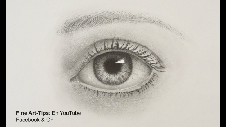 Outstanding Pencil Drawings Step By Step Courses How To Draw A Realistic Eye - With Pencil- Drawing Tutorial Pictures