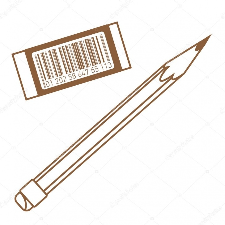 Outstanding Pencil Eraser Drawing Free Pencil And Eraser Icon. Outline Drawing. — Stock Vector © Filkusto Image