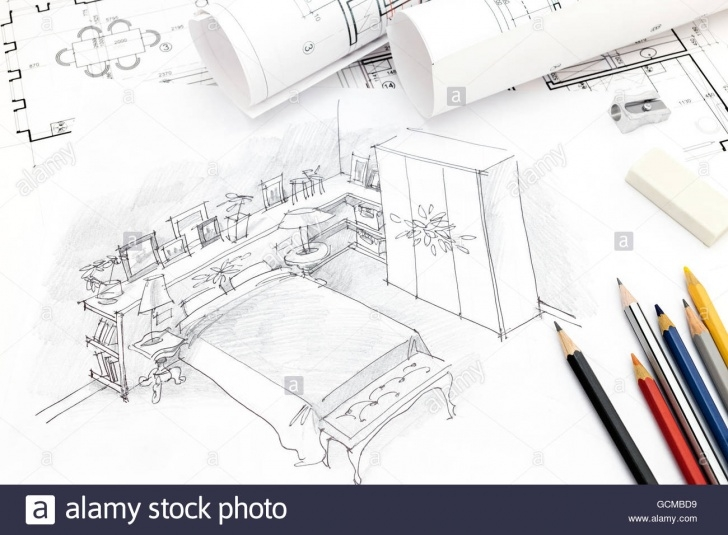 Outstanding Pencil Sketch Of A Bedroom for Beginners Freehand Pencil Drawing Bedroom Interior Stock Photos & Freehand Photos