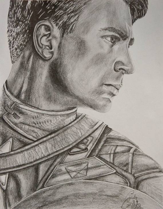Outstanding Pencil Sketch Of Captain America for Beginners Captain America Pencil Portrait Sketch | Portrait Photography And Pic