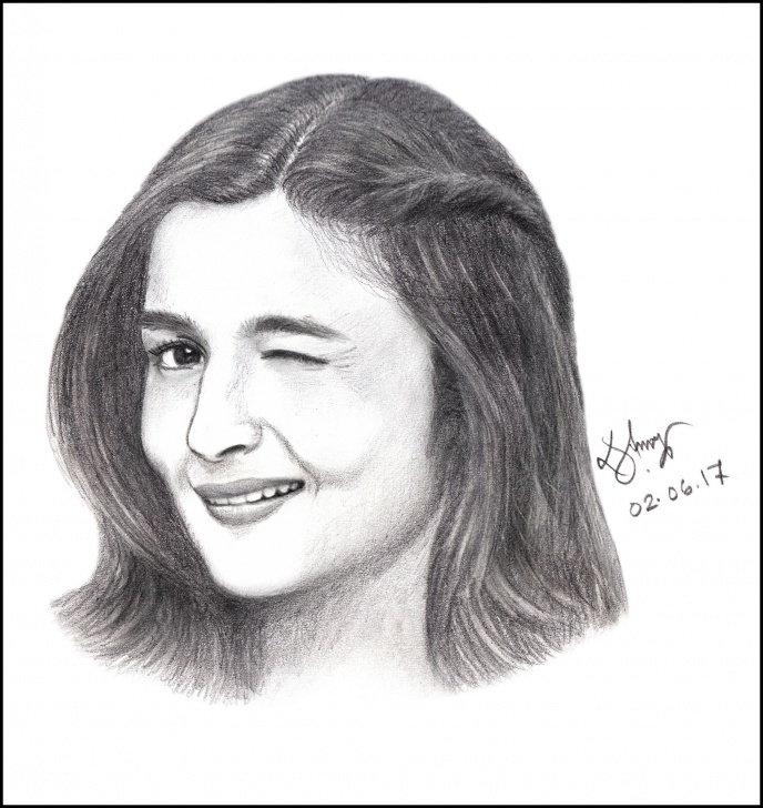 Outstanding Pencil Sketch Of Famous Indian Personalities Free Alia Bhatt Sketch #alia #aliabhatt #pencilsketch #art #sketch Pic