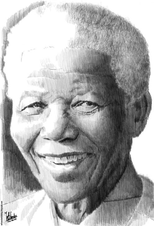 Outstanding Pencil Sketch Of Nelson Mandela Step by Step Nelson Mandela (Pencil Drawing) Photo
