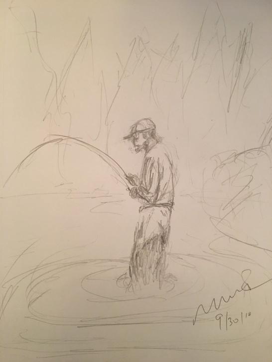 Outstanding Quick Pencil Sketches Lessons Fisherman. Quick Pencil Sketch | Mark Bonica | Flickr Pics