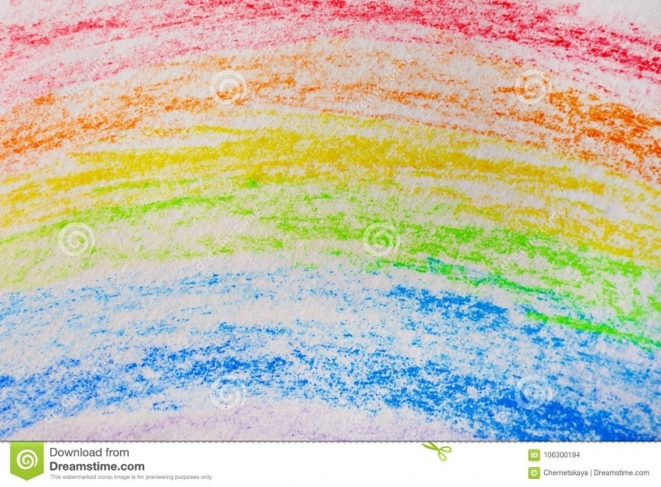 Outstanding Rainbow Pencil Drawing Simple Pencil Drawing Of Rainbow Stock Photo. Image Of Hobby - 106300194 Images