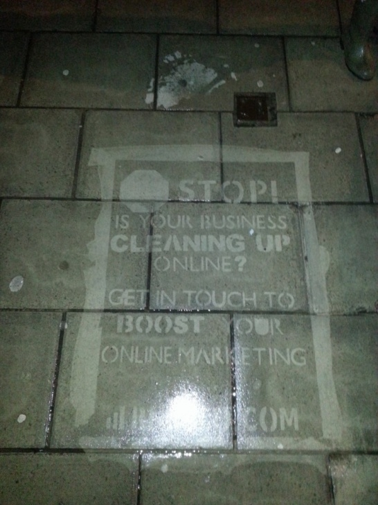 Outstanding Reverse Graffiti Stencils Techniques How I Got Seo Clients By Spraying Graffiti All Over My City - Jamie Pictures