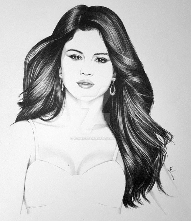 Outstanding Selena Gomez Pencil Sketch Easy Selena Gomez Pencil Sketch And Selena Gomezfrompencilpaper On Pics