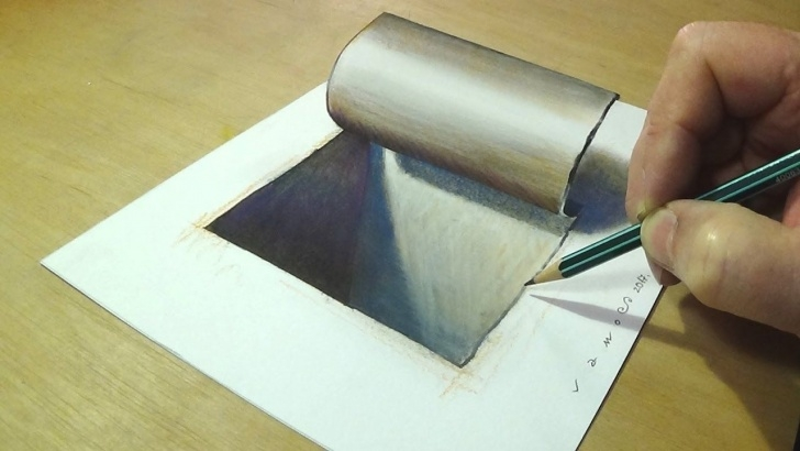 Outstanding Simple 3D Drawings On Paper With Pencil Step by Step Simple And Easy 3D Drawing - Drawing 3D Hole - How To Draw Hole Photos