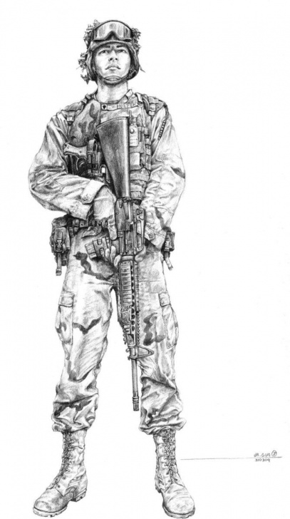 Soldier Pencil Drawing