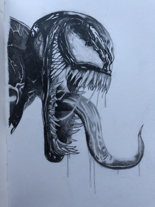 Outstanding Venom Drawings In Pencil Simple Venom. Pencil. : Sketches Photos