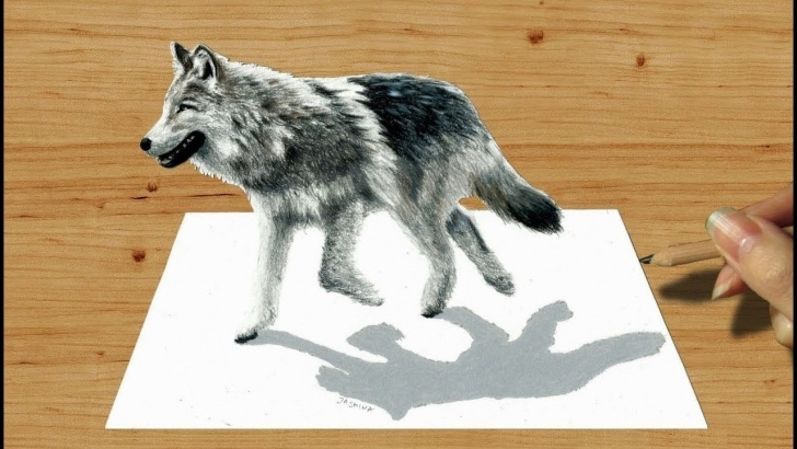 Outstanding Wolf Drawings In Pencil Courses 3D Pencil Drawing: Walking Wolf - Speed Draw | Jasmina Susak Pic