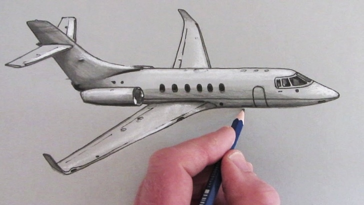 Popular Aeroplane Pencil Sketch Simple Aeroplane Sketch At Paintingvalley | Explore Collection Of Images
