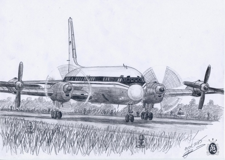 Popular Airplane Pencil Drawing for Beginners Pencil Drawings Of Aircraft By An Amateur Artist - English Russia Pic